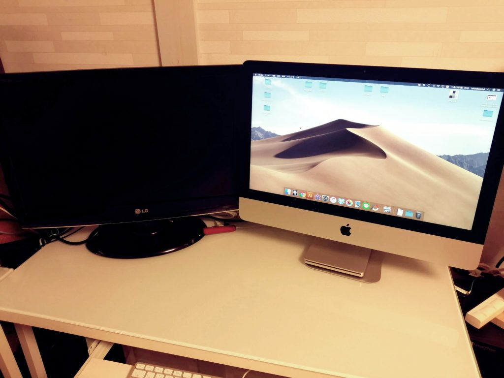 iMac マルチディスプレイ 映らない