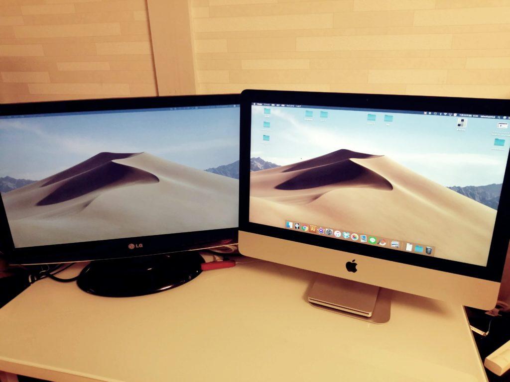 iMac マルチディスプレイ 接続