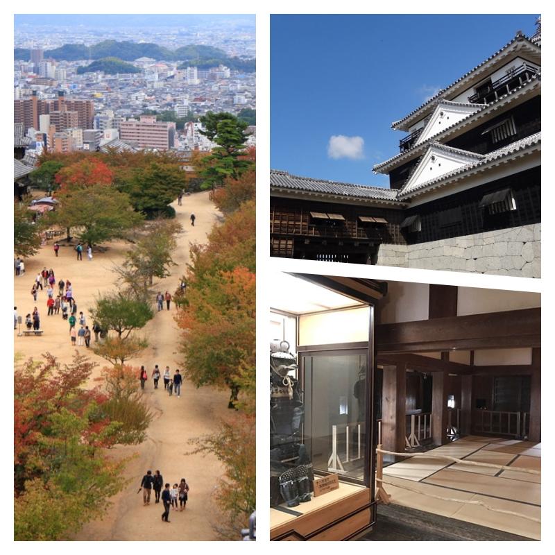 松山城天守閣とワンダフルな眺め