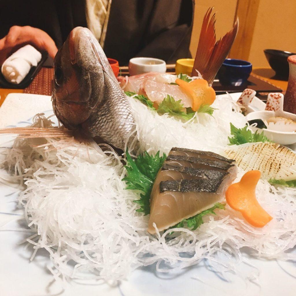 夢海游淡路島 ディナー 刺身盛り合わせ