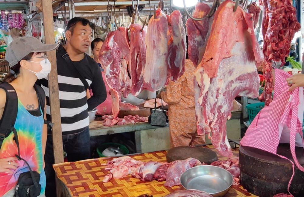 カンボジア ローカルマーケット
