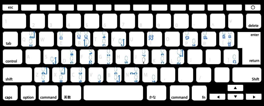 クメール語(カンボジア語)を日本のMacでタイプ